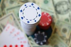 Стог обломока покера Стоковое Изображение RF