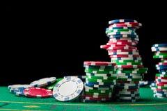 Стог обломоков покера Стоковые Изображения RF