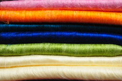 стог одеял альпаки ярк покрашенный Стоковые Фото