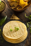 Стог домодельных Tortillas мозоли Стоковые Фотографии RF