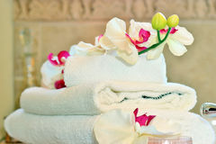 Полотенца ванны Стоковое Фото