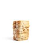 стог отрезанный хлебом Стоковые Фото