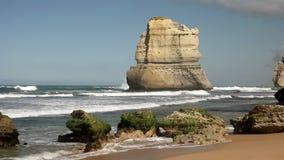 Стог от шагов gibsons на 12 апостолов, Виктория моря сток-видео
