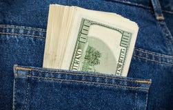 Стог 100 долларовых банкнот Стоковые Фото