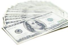 Стог 100 долларов конца-вверх Стоковая Фотография RF