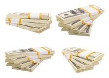 Стог долларов Стоковые Фотографии RF