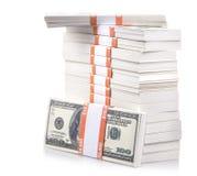 Стог долларов Стоковая Фотография RF