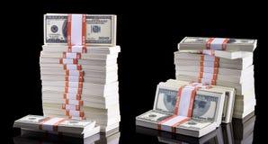 Стог долларов Стоковые Изображения RF
