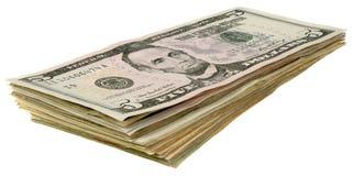 Стог долларов banknotes_5 Стоковое Фото