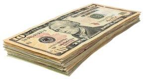 Стог долларов banknotes_10 Стоковые Фото