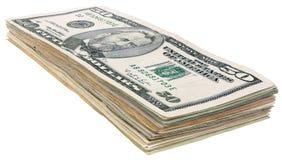 Стог долларов banknotes_50 Стоковое Фото