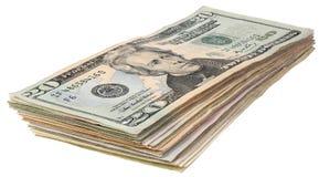 Стог долларов banknotes_20 Стоковое Изображение RF