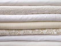 Стог одежд лета свежих белых Стоковое Изображение