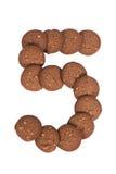Стог печений масла гайки анакардии шоколада в форме раскопок Стоковое фото RF