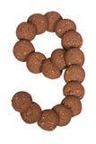 Стог печений масла гайки анакардии шоколада в форме раскопок Стоковое Изображение