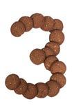 Стог печений масла гайки анакардии шоколада в форме раскопок Стоковые Фотографии RF