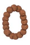 Стог печений масла гайки анакардии шоколада в форме раскопок Стоковые Изображения