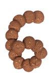 Стог печений масла гайки анакардии шоколада в форме раскопок Стоковое Фото