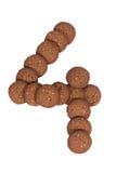 Стог печений масла гайки анакардии шоколада в форме раскопок Стоковая Фотография
