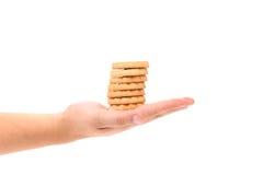 Стог печенья с вареньем кивиа в наличии. Стоковое фото RF