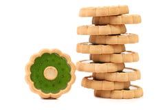 Стог печенья с вареньем кивиа. Стоковые Изображения