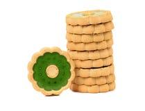 Стог печенья с вареньем кивиа. Стоковое Фото