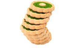 Стог печенья с вареньем кивиа. Стоковое фото RF
