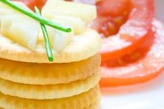 Стог печенья с сыром и chives Стоковое Изображение RF