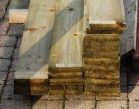 Стог планок твёрдой древесины стоковые фотографии rf