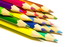 Стог покрашенного карандаша Стоковое Изображение