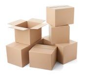 Стог поставки транспорта пакета картонной коробки moving Стоковые Изображения RF