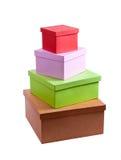 Стог подарочных коробок картона Стоковые Изображения RF