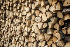 Стог предпосылки древесины стоковые фотографии rf