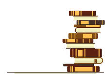 Стог предпосылки книг Стоковые Фотографии RF