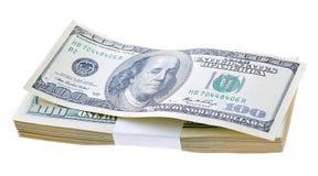 стог примечания сотни franklyn стороны долларов Бенжамина несчастный мы Стоковое Фото