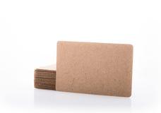 Стог пустой визитной карточки на белой предпосылке Стоковое Фото