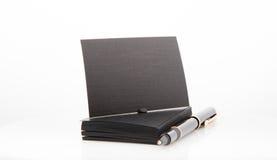 Стог пустой визитной карточки на белой предпосылке Стоковое Изображение RF