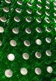 Стог пустых зеленых стеклянных бутылок Стоковое фото RF