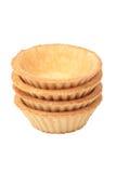 Стог пустых tartlets на белизне Стоковые Фото