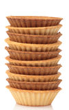 Стог пустых tartlets на белизне Стоковая Фотография RF
