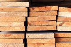 Стог древесины пиломатериала Стоковые Фото