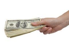 стог руки счета Стоковое Изображение RF
