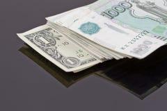 Стог русских рублей Стоковое Изображение