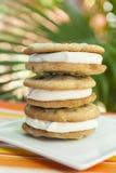 Стог сандвичей мороженого обломока шоколада Стоковое Фото