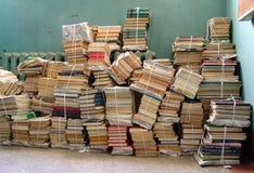 Стог связанных книг Стоковые Изображения