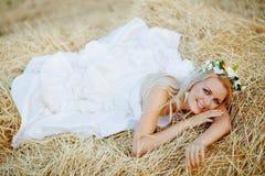 стог сена невесты стоковые изображения rf
