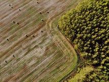 Стог сена, фотографии трутня Стоковые Изображения
