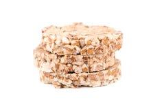 Стог сопенного всего crispbread зерна изолированного на белой предпосылке Стоковое Фото