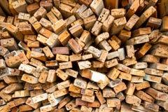 Стог старое деревянного Стоковые Фотографии RF