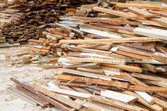 Стог старое деревянного Стоковое Изображение RF